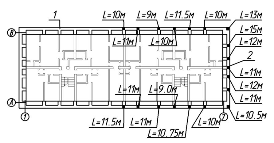 Исполнительная схема по длинам
