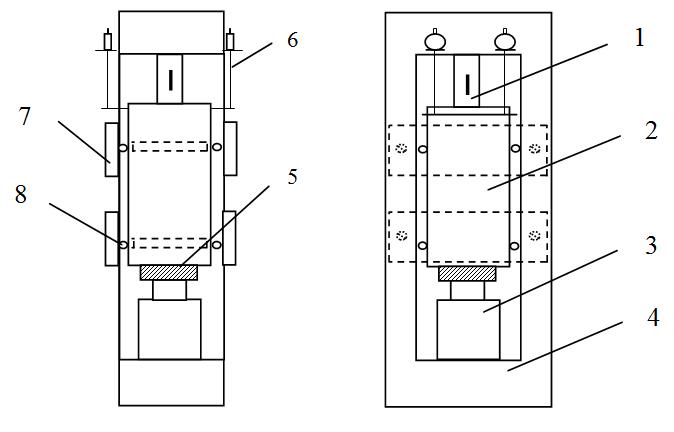 Схема поршневой установки для
