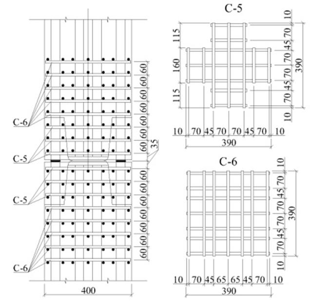 Схема расположения сеток